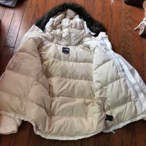 North Face 550 Winter Jacket - White - Large